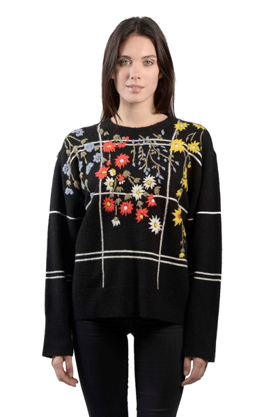 Picture of EMBROIDERED WINDOWPANE SWEATER