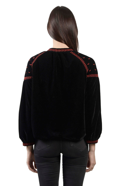 Picture of EMBROIDERED VELVET BOMBER