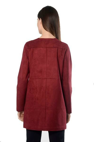 Picture of FAUX SUEDE BUTTON FRONT JACKET