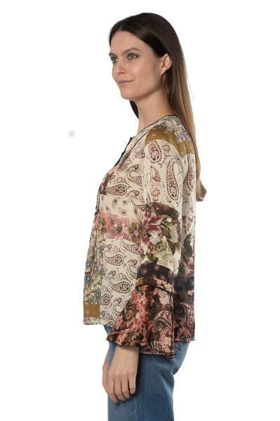 Picture of PRINTED BELL SLEEVE BLOUSE