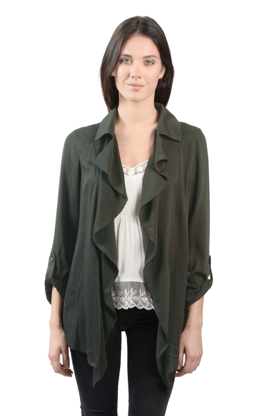 Picture of RUFFLE FRONT JACKET