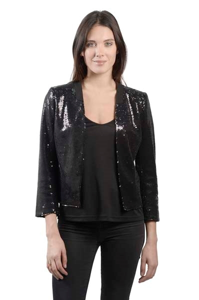 Picture of ALLOVER SEQUIN TUXEDOJACKET