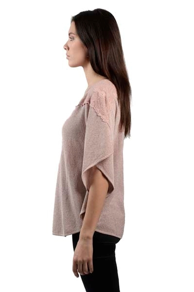 Picture of SWEATER WITH SHOULDER LACE INSET