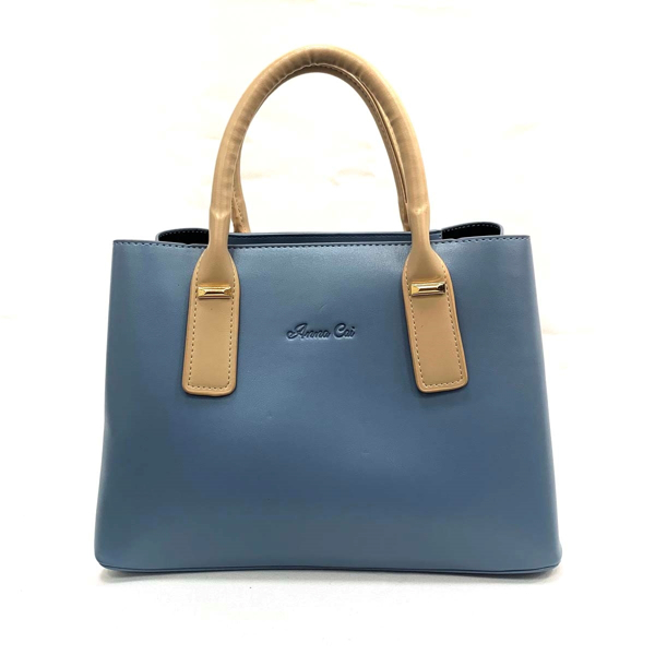 Picture of FAUX LEATHER TOP HANDLE TOTE