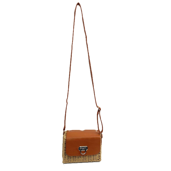 Picture of WHEAT STRAW CROSSBODY BAG