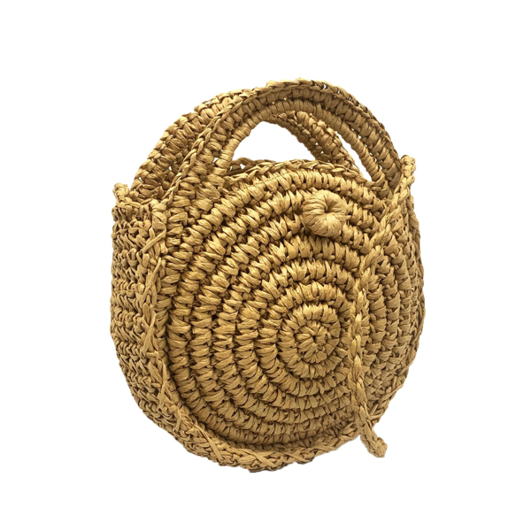 Picture of ANNA CAI ROUND STRAW CROSSBODY BAG