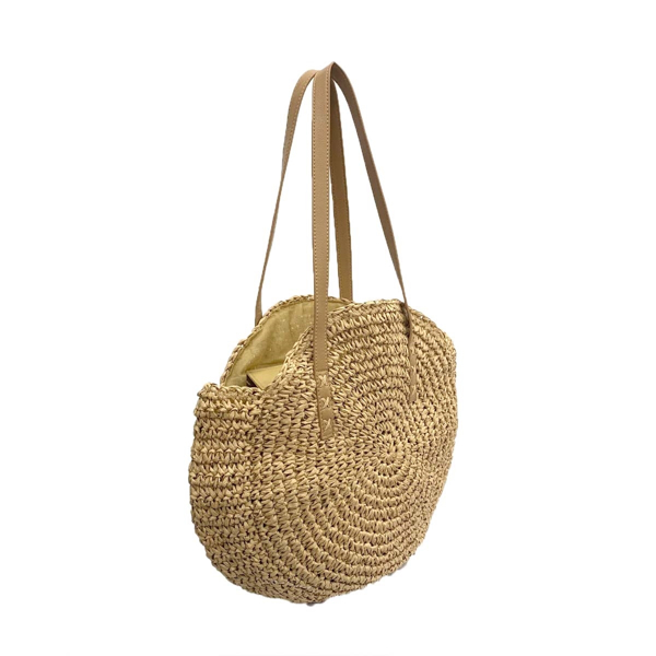 Picture of ANNA CAI ROUND WHEAT STRAW PURSE
