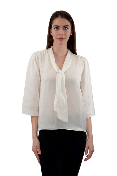 Picture of HAMMER SATIN TIE NECK BLOUSE