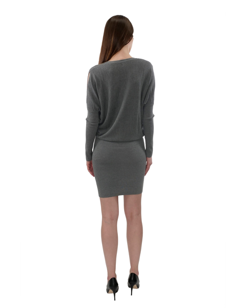 Picture of COLD SHOULDER SWEATER DRESS