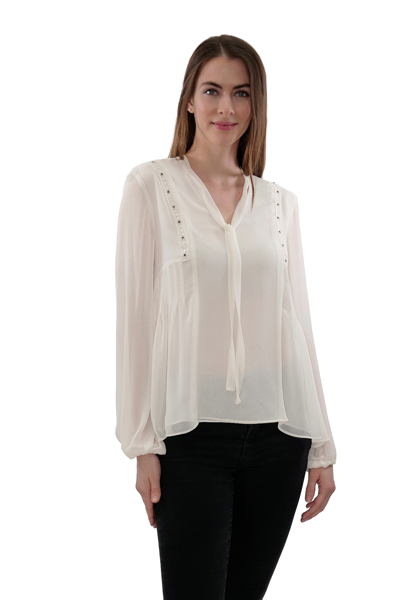 Picture of EMBELLISHED WOVEN TOP