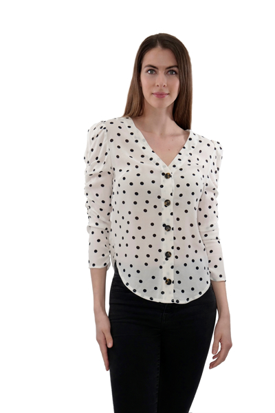 Picture of CINCHED SLV DETAIL WOVEN TOP