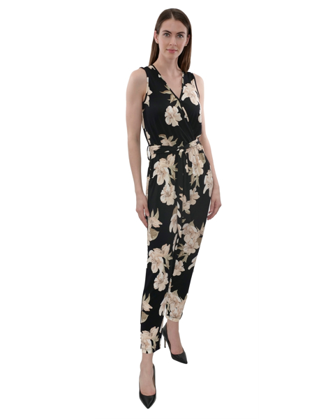 Picture of SLEEVELESS CROSSOVER KNIT JUMPSUIT
