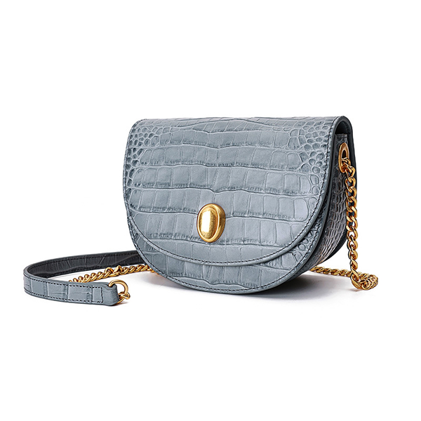 Picture of CROC-EMBOSSED GENUINE LEATHER SATCHEL