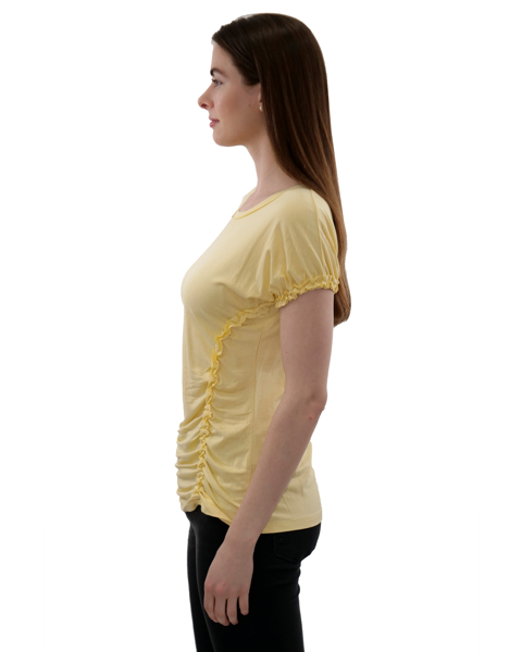 Picture of RUFFLE TRIM KNIT TEE