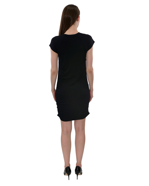Picture of SIDE RUCHED KNIT DRESS