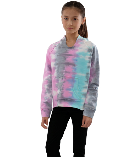 Picture of TIE-DYE KNIT PULL OVER HOODIE