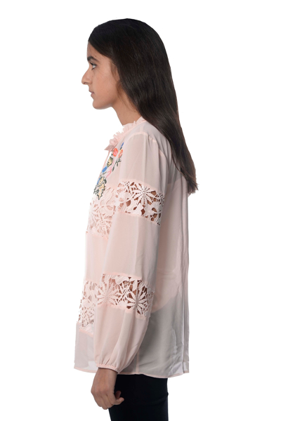 Picture of ARTISAN TOP WITH LACE & EMB