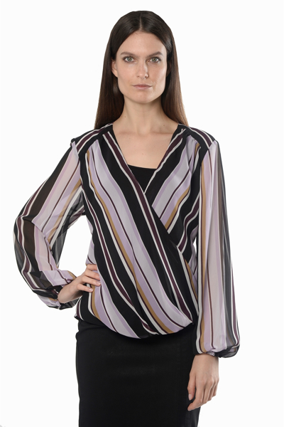 Picture of LS SURPLICE FRONT BLOUSE