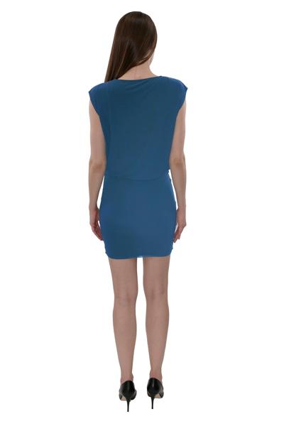 Picture of COWL NECK BLOUSON DRESS