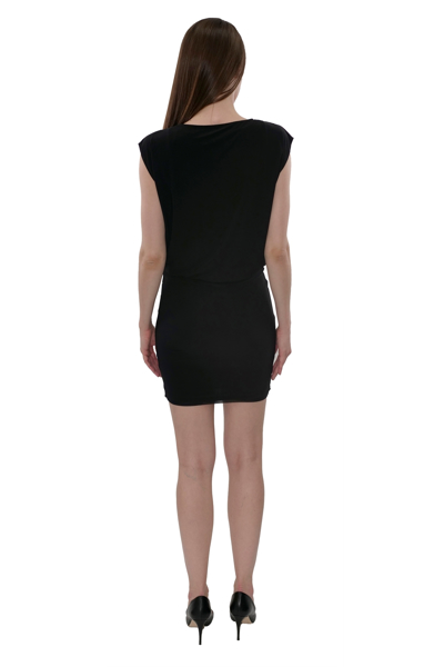 Picture of COWL NECK BLOUSON DRESS