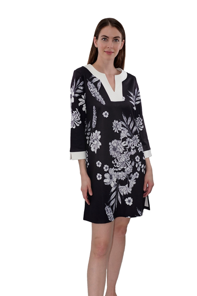 Picture of 3/4 SLEEVE PRINTED DRESS