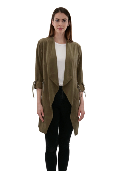 Picture of OPEN FRONT ROLL UP SLEEVE LONG JACKET