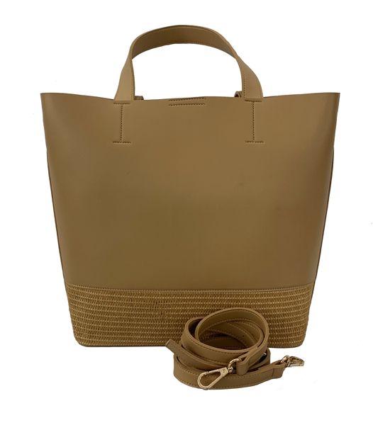 Picture of FAUX LEATHER TOTE WITH MATCHING POUCH