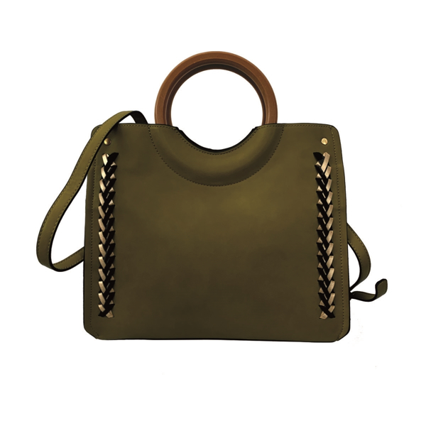 Picture of BASKET WEAVE DETAILED TOP HANDLE TOTE